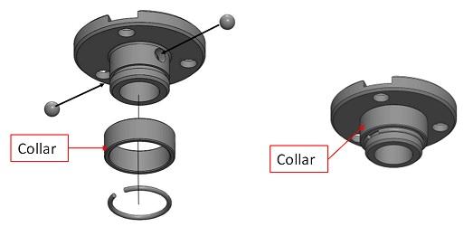 collier de réceptacle SCRHDBI